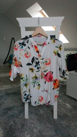 Bkuzka koszula w kwiaty xs 34 s 36