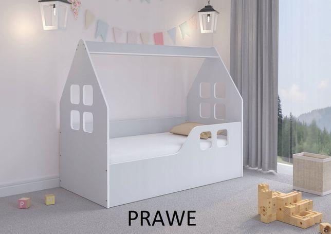 Łóżko dziecięce DOMEK KOLOR SZARY 140x70 + materac