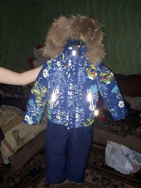 Продам зимний пулукомбенизон,комбинезон,куртку 86см