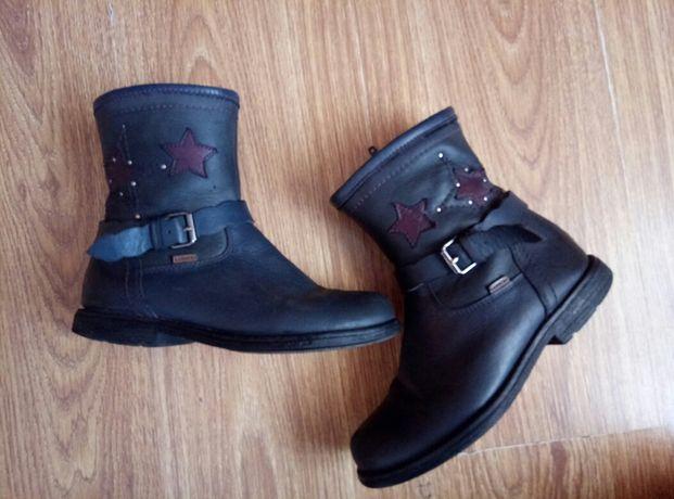 сапожки ботинки чобітки шкіряні кожа польські чоботи 33розм