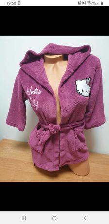 Szlafrok Hello Kitty r.116 cm.nowa cena 10 zł.
