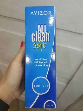 Płyn do soczewek Avizor All Clean Soft 350 ml