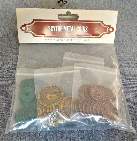 Metalowe MONETY do gier planszowych Scythe