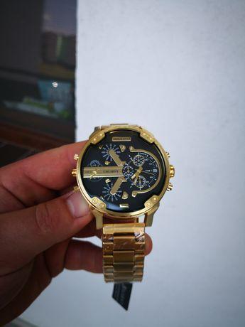 Piękny złoty zegarek męski + bransoletka Diesel