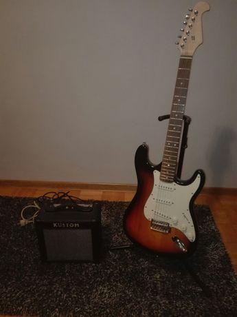 500zł OKAZJA! Gitara elektryczna SX i piec gitarowy KUSTOM 10w