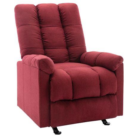 vidaXL Poltrona reclinável tecido vermelho tinto 321403