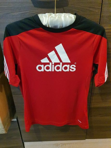 koszulka T Shirt Adidas ORYGINALNA Czerwono - Czarna Rozmiar S TANIO