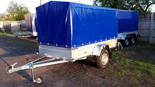 Przyczepka samochodowa 1-oś skrętna 1350 kg, B, MALIKÓW Kielce RYDWAN