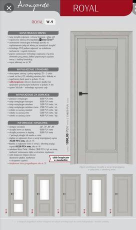 Nowe drzwi Intenso Royal szare z szybką