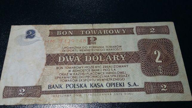 Bon Towarowy 2 $ z 1979