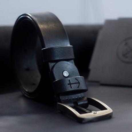 Ремень Кожаный Мужской + Подарок браслет | Ручная работа | Гравировка