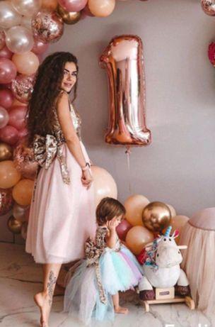 Платье фемели лук сукня мама і донька