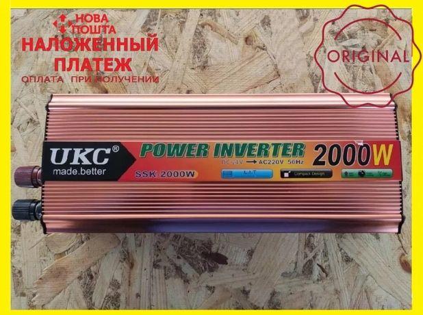 Преобразователь напряжения(авто инвертор) 24-220V 2000W