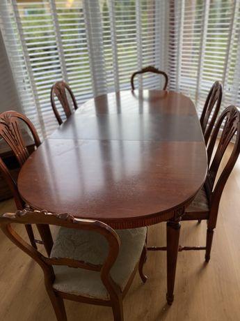 Stół drewniany & krzesła