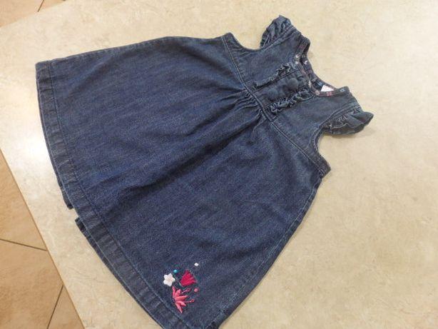 Sukienka c&a r 74/80 dżinsowa jeansowa