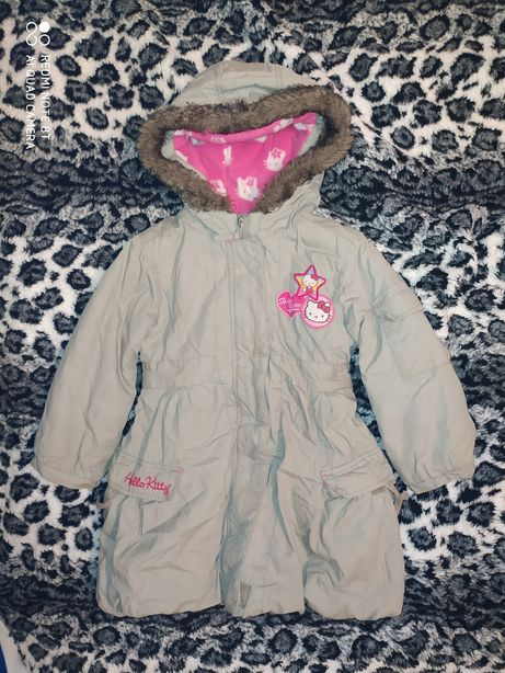 Kurtka parka Hello Kitty 5 6 lat 116 kurteczka ocieplana płaszczyk 110