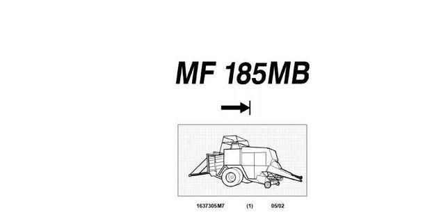 Katalog części Prasy MF 185 MB