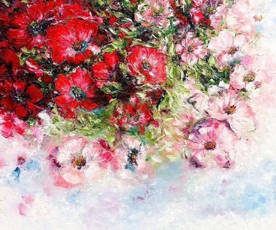 Картина маслом Нежные цветы