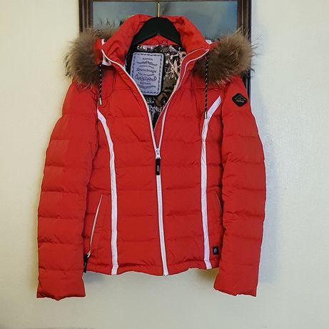 Куртка пуховик женский зимний Snowimage короткий с капюшоном