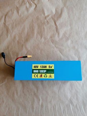 Akumulator 48V 13s3p 12Ah zBMS do roweru e bice nowy