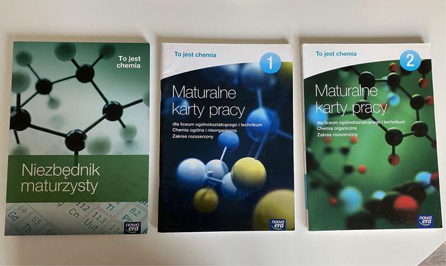 Maturalne karty pracy (1, 2) i niezbednik maturzysty. Chemia