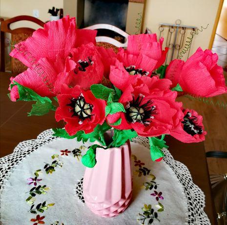 Maki krepina kwiaty bukiet