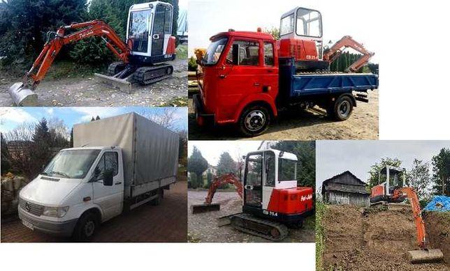 Usługi transportowe, przeprowadzki, kiper, wywrotka, koparka