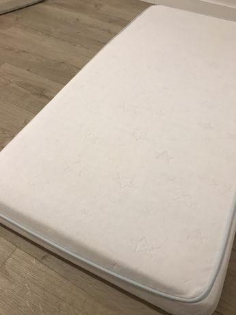 Materac lateksowy dla dziecka 60x120 biały IKEA Vyssa Somnat