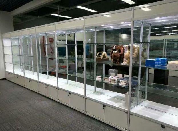 Витрины из алюминиевого профиля, стеклянные витрины для товара
