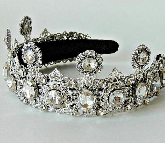 Свадебный ободок,обруч,корона ручной работы.