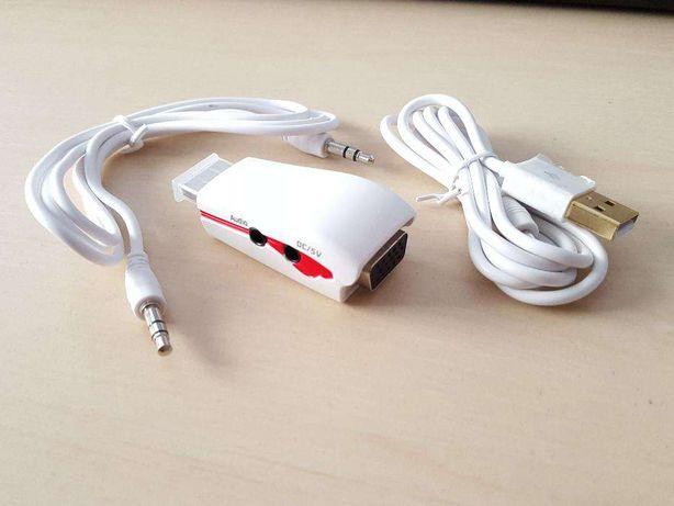 U021 Pen Adaptador Conversor HDMI - VGA Audio HD LCD PC TV