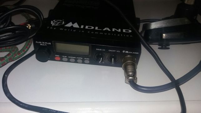 CB radio Midland Alan 78 Plus Multi + antena