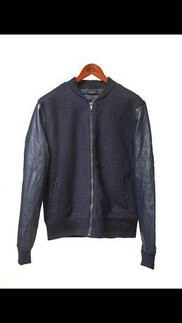 Zara Л Бомбер с кожаными вставками Gap, Timberland, Lacoste, H&M, Polo