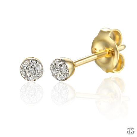 Złote kolczyki z Brylantem p.585 - Salon Jubilerski Goldrun M1 Zabrze