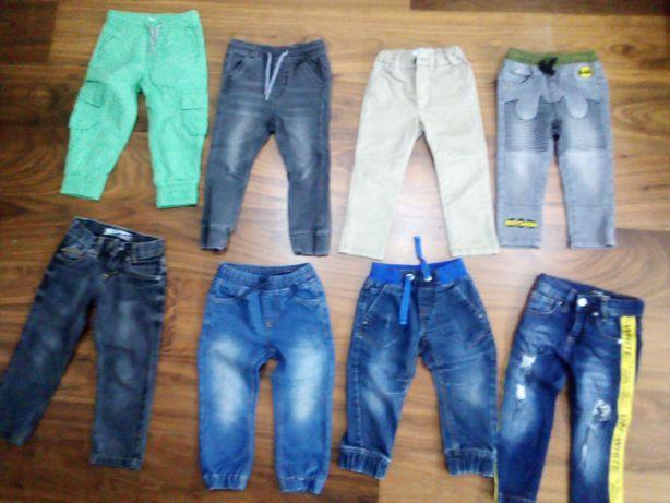 8 par spodni dla chłopca i wiatrówka rozmiar 92