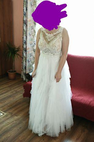 Sprzedam piękną suknię ślubną szytą na miarę