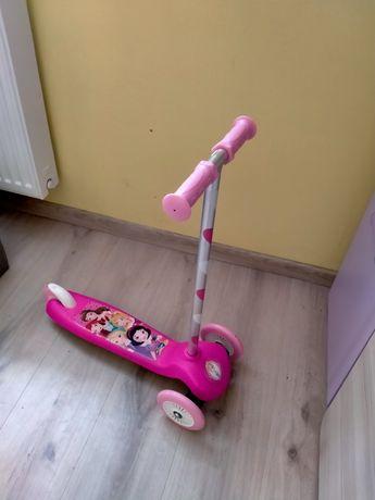 Hulajnoga dla dzieci różowa bajkowa