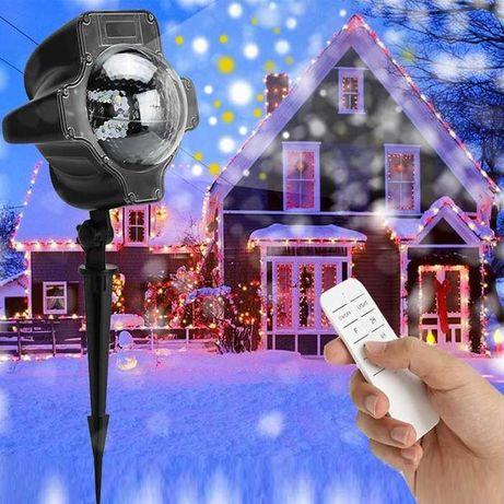 Projector LED Luzes Giratórias