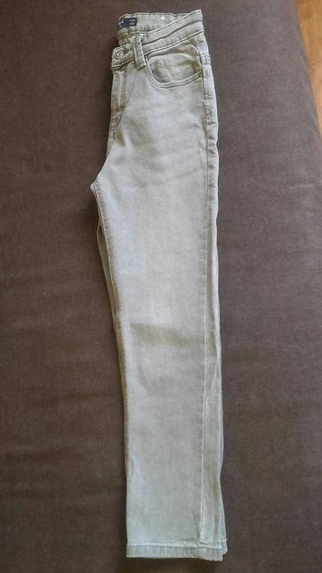 Mango 140 10lat spodnie jeansowe dżinsowe szare