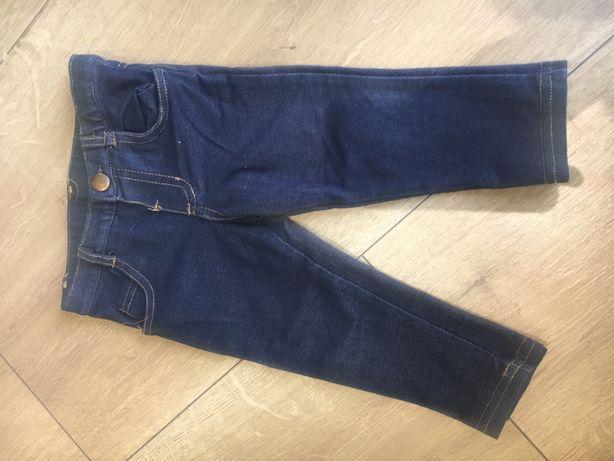 Spodnie w stylu jeans dla dziewczynki 80 leginsy jenasy jeansowe