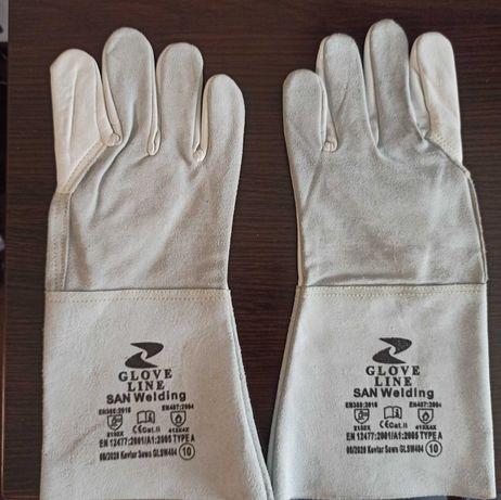 Сварочные, слесарные перчатки кожаные
