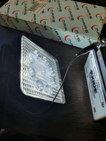Фонарь Led фара рабочая 12-24v 27w галогенки противотуманки авто мото