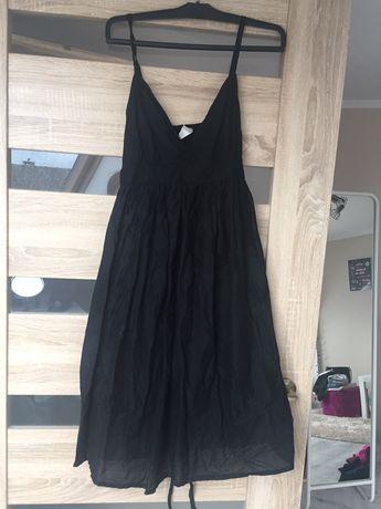Czarna sukienka ciążowa na ramiączkach Topshop