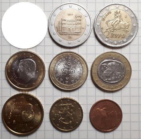 Обмен монеты Евро (юбилейные и обиходные)