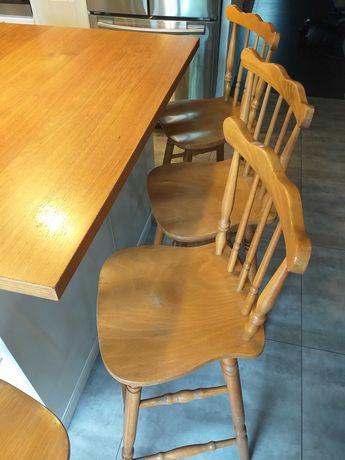 Hokery, krzesła basowe, wysokie, retro vintage, fameg, patyczaki!