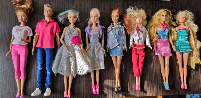 Zestaw barbie + auto z kamperem i akcesoria