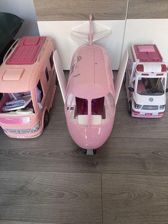 Kamper samolot karetka barbie