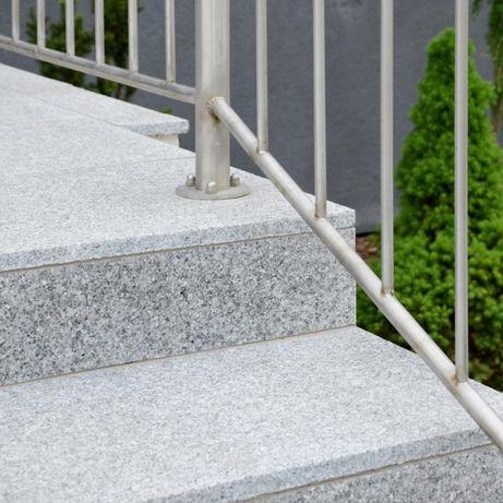 SCHODY Granitowe Stopień GRANIT PŁOMIENIOWANY 150x33x2cm Szary Stopnie