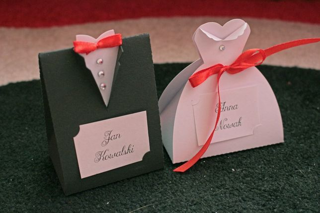 Kotyliony, etykiety, kieliszki, podziękowania, ozdoby na auto weselne
