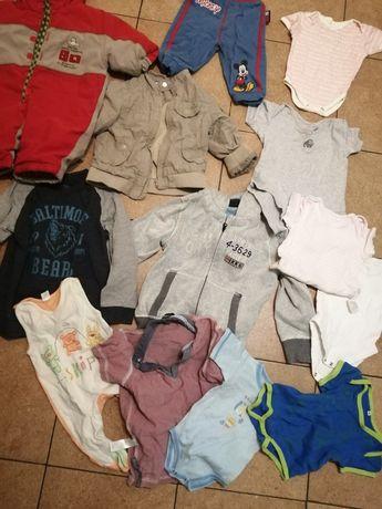 Duży worek ubrań chłopięcych tanio spodnie kurtka bluzki body
